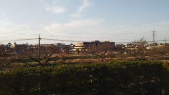 遺品整理を終えた、志木市柳瀬川からの写真